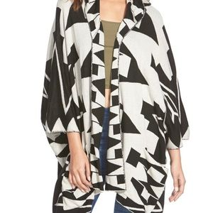 Billabong Enchanted Ways Geometric Poncho Sweater
